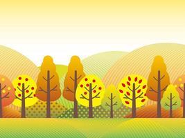Paysage de campagne sans soudure en automne.