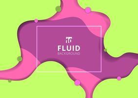 Bannière de style dynamique fluide abstraite vecteur