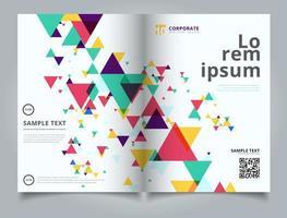 Brochure de présentation de modèle abstrait coloré et créatif vecteur