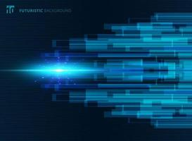 Fond futuriste concept abstrait technologie virtuelle bleu