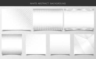 Ensemble de texture de fond blanc et gris motif géométrique. vecteur