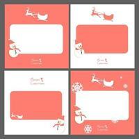 Jeu de cartes de voeux de Noël vecteur