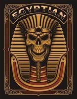 Affiche de crâne égyptien
