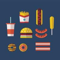 Cuisine américaine typique vecteur