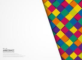 Motif géométrique carré abstrait femmes colorées vecteur
