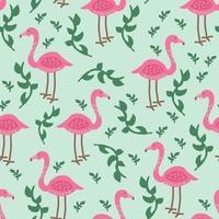 Motif Flamingo Tropical vecteur