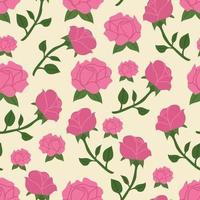 Motif Floral Rose vecteur