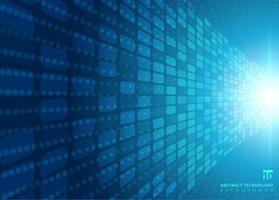 Concept technologique abstrait avec une lumière radiale de néon bleu