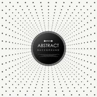 Motif de points noirs de perspective radiale abstraite
