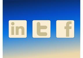 Autocollants de médias sociaux vecteur