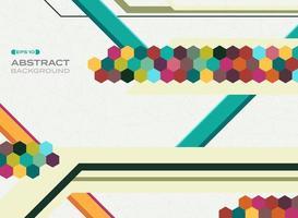 Fond de formes abstraites mosaïque géométrique colorée vecteur
