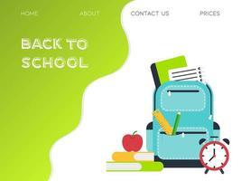 Retour à la page d'accueil de l'école vecteur