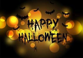 Fond d'Halloween avec des lumières de bokeh vecteur