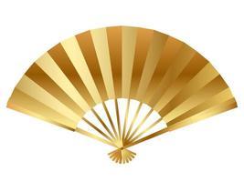 Fan d'or - Nouvel An japonais vacances chanceuses vecteur