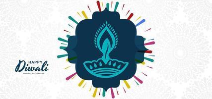 Design de fond de festival diwali diya moderne
