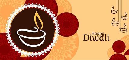 Graphique élégant fond Happy Diwali vecteur