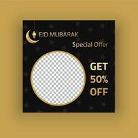 Offre spéciale eid post sur les médias sociaux vecteur