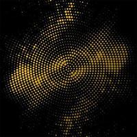 Cercle demi-teinte circulaire abstrait doré vecteur
