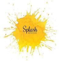 conception de pinceau aquarelle splash orange vecteur