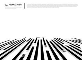 Abstrait de formes abstraites rectangulaires noires