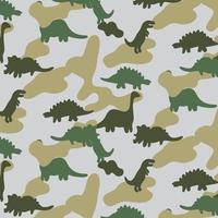 Motif de dinosaure camo vecteur