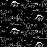 Motif de dinosaure noir et blanc