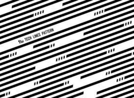 Motif de lignes abstraites rayées diagonales noires et blanches