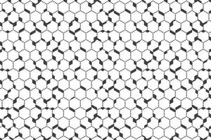 Motif hexagonal de contour de point noir abstrait vecteur