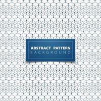 Motif hexagonal abstrait contour empilé bleu
