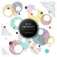 Modèle de cercles rayés moderne de bulles colorées abstraites vecteur