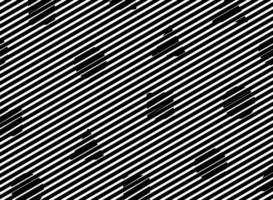 Ligne noire abstraite avec motif de forme géométrique vecteur