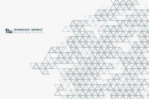 Modèle de grille de mosaïque de triangle abstraite en pointillé