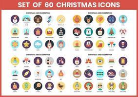 Icônes de Noël circulaires définies pour les entreprises