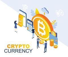 Monnaie de cryptage Business Isomertic design