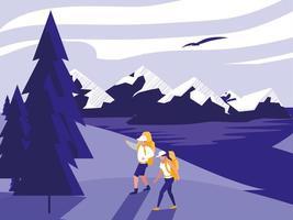 paysage de randonnée créatif