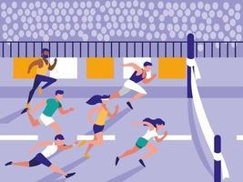 personnes athlète en personnage d'avatar de course
