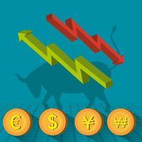 Icônes boursières vecteur