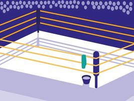 icône de scène de ring de boxe