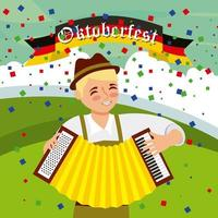 Fête de célébration de l'Oktoberfest vecteur