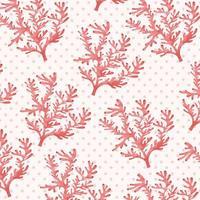 Motif corail rose