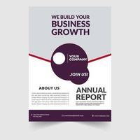 Brochure pour entreprise éducation présentation présentation magazine page taille illustration vectorielle