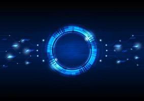 cercle numérique fond de technologie