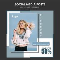 Conception de publication de médias sociaux minimale mode vente vecteur