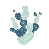 Cactus décoratifs dessinés à la main. dans le style scandinave vecteur