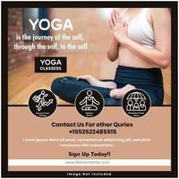 Modèle de média social santé yoga vecteur