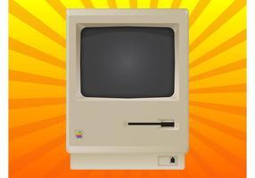Vintage mac vecteur