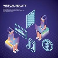 réalité virtuelle isométrique vecteur