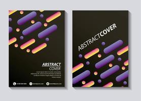 modèle de couvertures abstraites vecteur