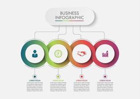 Visualisation des données Business Circle vecteur