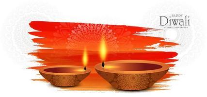 Fond de carte festival élégant joyeux diwali moderne